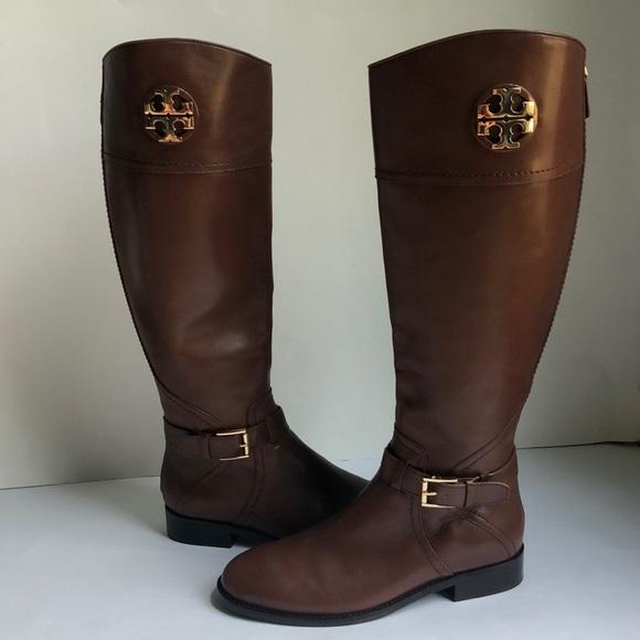 e29a5e035d5 New Tory Burch Adeline Tall Brown Riding Boots 7.5.  M 5b6f20d6b6a942fb8dabb21a